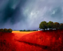 Hilltop Coppice by Barry Hilton -  sized 43x35 inches. Available from Whitewall Galleries